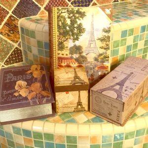 Collection of Paris storage boxes